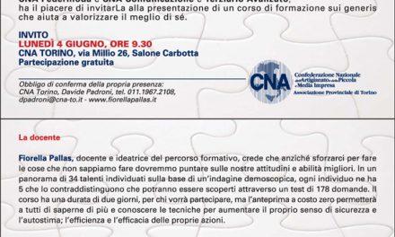 """CNA Torino ti invita a """"Scopri il tuo Talento"""""""
