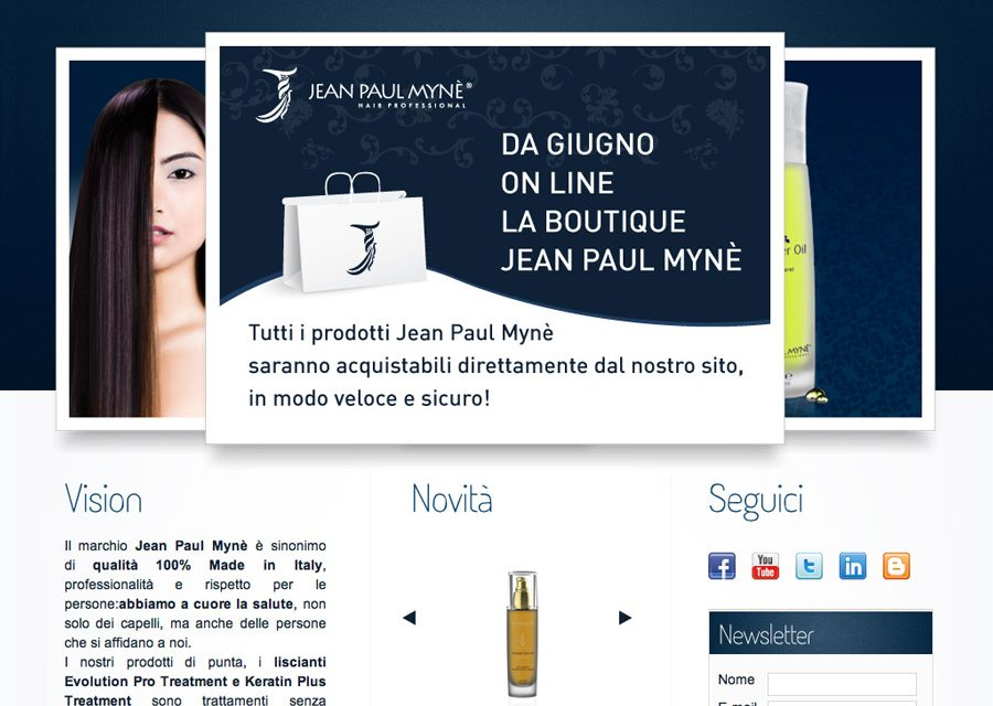 Nasce l'e-commerce di Jean Paul Mynè