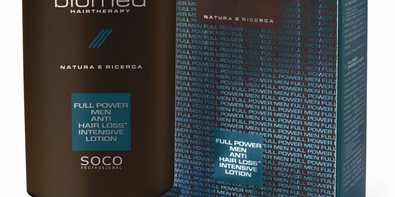 Soco P. presenta Full Power Men di Biomed Hairtherapy