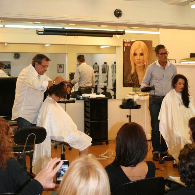 Gli acconciatori Soco all'International Hair School Cebado di Barcellona