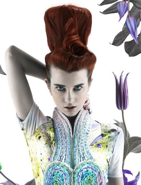 Moda capelli: le creazioni di Neil Barton pensando a fiori e insetti
