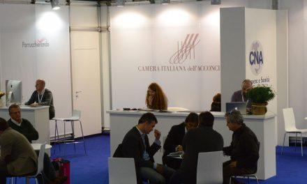 Lo stand di Parrucchierando con Camera Italiana dell'Acconciatura