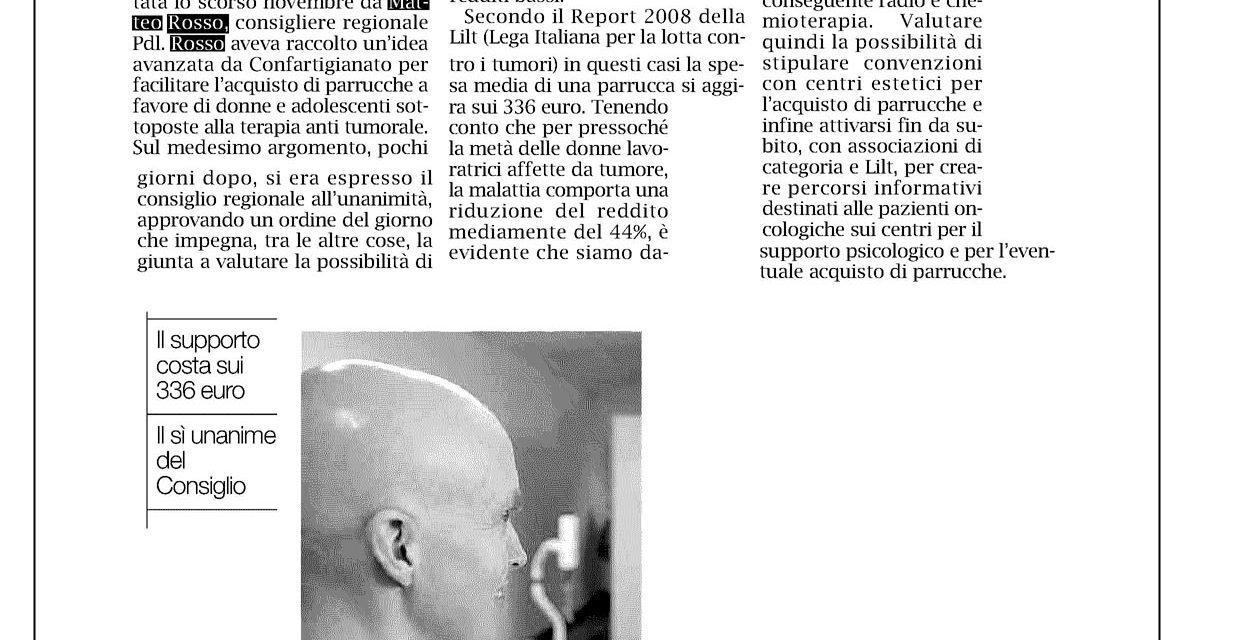 Parrucche gratis alle pazienti oncologiche!