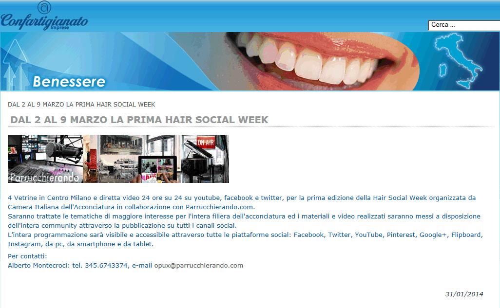 Hair Social Week organizzata da Camera Italiana dell'Acconciatura in collaborazione con Parrucchierando