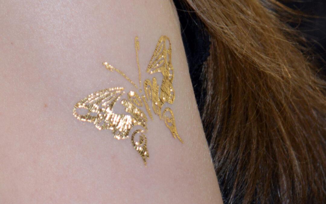 Tatuaggi temporanei in oro 24k e argento 999
