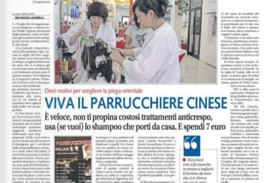 Selvaggia Lucarelli: viva il parrucchiere cinese