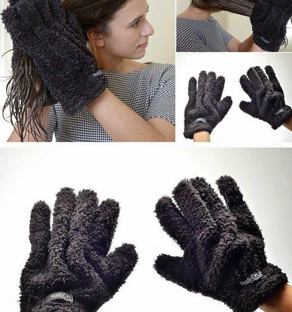 I capelli? Si asciugano con i guanti