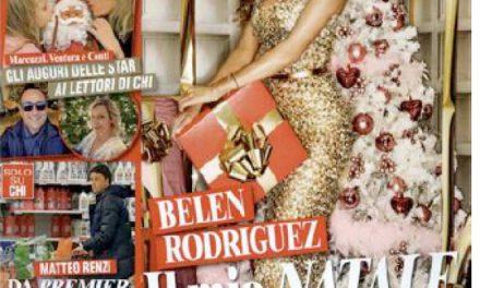 """BELEN RODRIGUEZ, E' COVER SUL NUMERO DI NATALE DI """"CHI"""""""