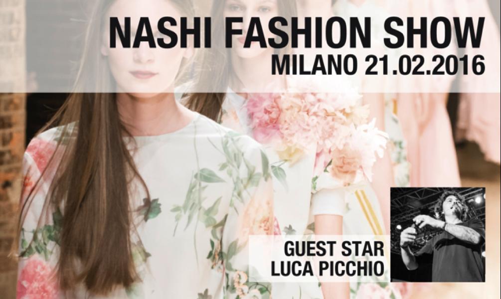 SAVE THE DATE 21 FEBBRAIO 2016: Nashi Argan inaugura la settimana della moda a Milano con Luca Picchio