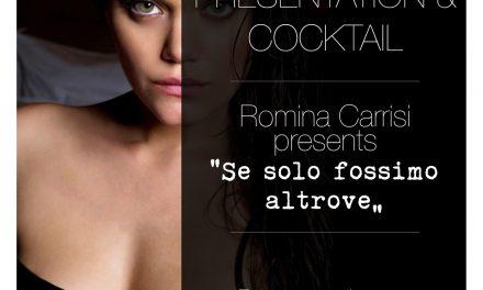 """Stasera presentazione del libro di poesie """"Se solo fossimo altrove"""" di Romina Carrisi"""