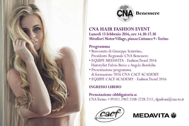 SAVE THE DATE: CNA HAIR FASHION EVENT, Torino Lunedì 15 febbraio