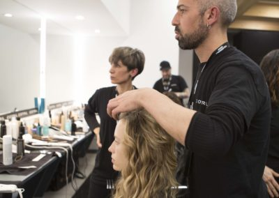 Hair Cotril per Calzedonia Summer Show_Giovanni Iovino backstage 4