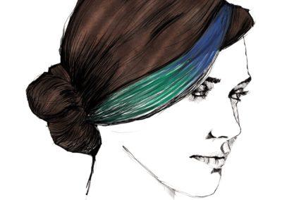 L'Oréal Professionnel _ look Hair Fashion Night _ Side Chignon