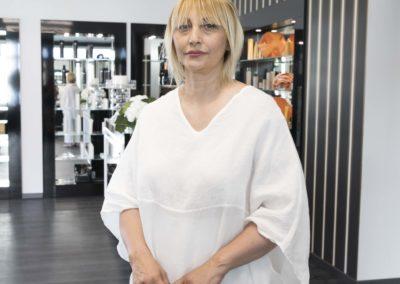La titolare del salone, Luisa Carraba