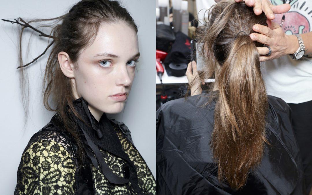 GHD FIRMA GLI HAIR LOOK DEL FASHION SHOW DI OLIVIER THEYSKENS ALLA PARIS FASHION WEEK
