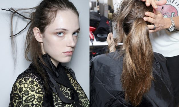 GHD FIRMA GLI HAIR LOOK DEL FASHION SHOW DI OLIVIER THEYSKENS ALLA PARIS FASHION WEEK
