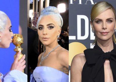Hair look GHD per Lady Gaga e Charliza Theron ai Golden Globes 2019