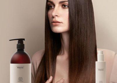 Capelli lisci come seta con Previa Haircare