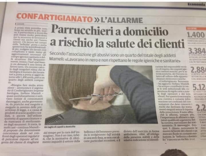 PARRUCCHIERE A DOMICILIO? NON FIDATEVI!