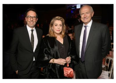 Jean-Agon, CEO of L'Oréal, Catherine Deneuve, Nicolas Hieronimus, L'Oréal Députy CEO in charge of Divisions