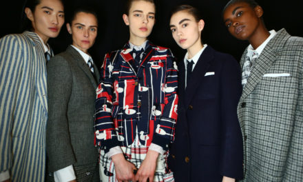 GHD FIRMA GLI HAIR LOOK DI THOM BROWNE  ALLA PFW