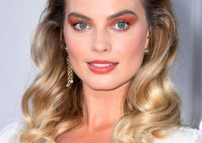 "Photo Credit: Valerie Macon Photo Caption: ""Margot Robbie attends the Once Upon a Time in Hollywood LA Premiere with hair by Moroccanoil Celebrity Hairstylist Bryce Scarlett – 7.22.19"""