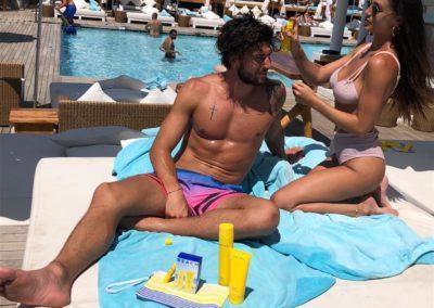 Cecilia Rodriguez e Ignazio Moser al Nikki Beach Versilia 6