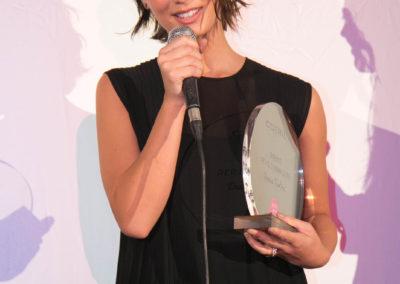 Denise Tantucci con il premio Cotril