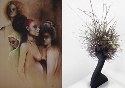 Due tra le opere esposte in mostra