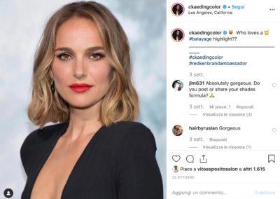 @ckaedingcolor autrice dello smoky gold blonde di Natalie Portman