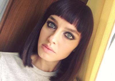 Il nuovo bob geometrico di Matilde Gioli